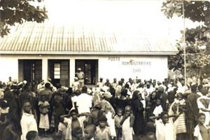 Protestos a favor da independência de Moçambique.