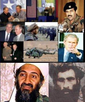 Alguns dos personagens da guerra do Afeganistão