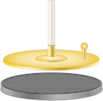 O eletróforo é uma máquina simples que funciona de acordo com o processo de indução eletrostática.