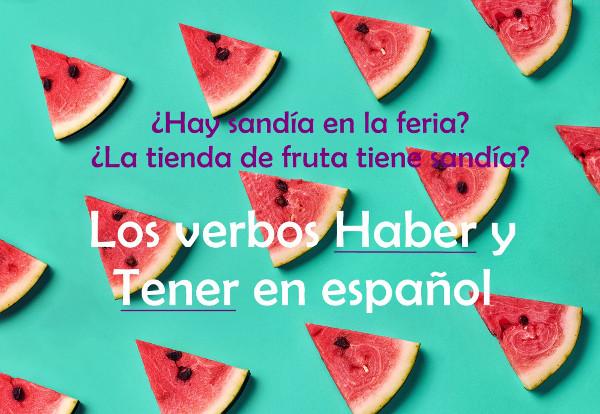 Em espanhol, os verbos haber e tener possuem significados e usos distintos