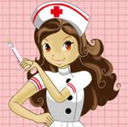 enfermeira com injeção