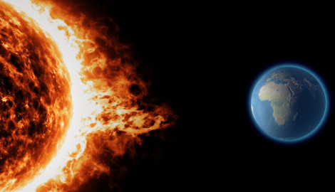 Erupções solares podem atingir a Terra