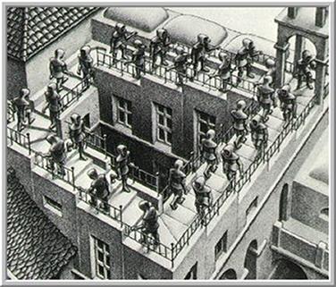 Relatividade (1953), de M. C. Escher