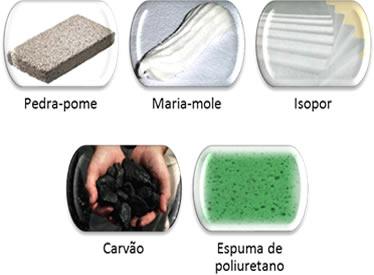 Exemplos de espumas sólidas