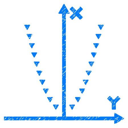 Exemplo artístico de parábola no plano cartesiano