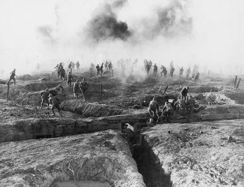 Exemplo de trincheira no Front Ocidental