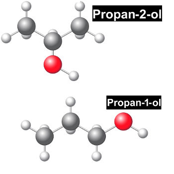 Exemplos de representações estruturais que possuem isomeria plana entre si