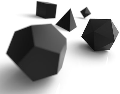 Existem apenas cinco tipos de poliedros que podem ser classificados como poliedros de Platão