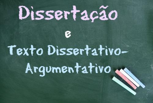 Existem diferenças entre a dissertação e o texto dissertativo-argumentativo