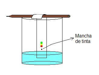 Esquema do Experimento de Cromatografia em Papel