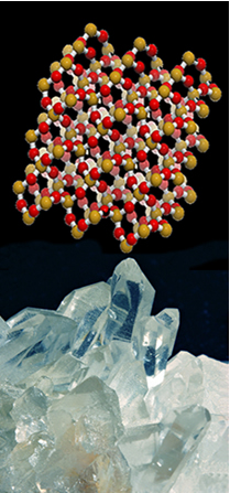 Macromolécula do dióxido de silício