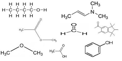 Álcool, Fenol, Amida, Ácido Carboxílico, Éster, Cetona, Éter são algumas funções orgânicas.