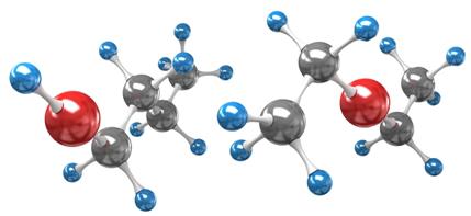 O butanol e o etoxietano são exemplos de ocorrência da isomeria de função
