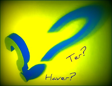 Em se tratando de situações formais de interlocução, o uso do verbo Haver ocupa o do verbo Ter