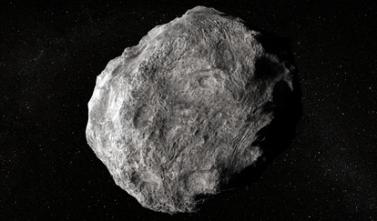 Exemplo de asteroide – corpo orbital metálico que possui massa muito inferior à dos planetas