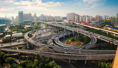 Vista aérea da cidade de Xangai, China