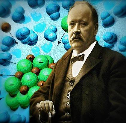 Arrhenius ficou mais famoso em razão da sua célebre teoria sobre a dissociação iônica