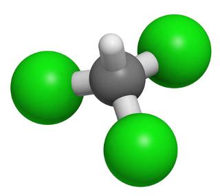 O clorofórmio (triclorometano), que era usado antigamente como anestésico, é um haleto orgânico