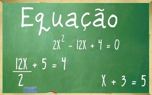 Equações, sua constituição como conceito na matemática.