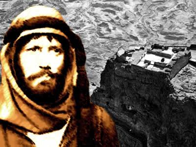 Massada: um foco de resistência judaico contra a força militar dos romanos.