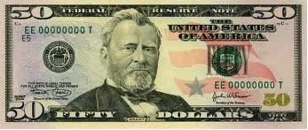 Nota americana de cinquenta dólares