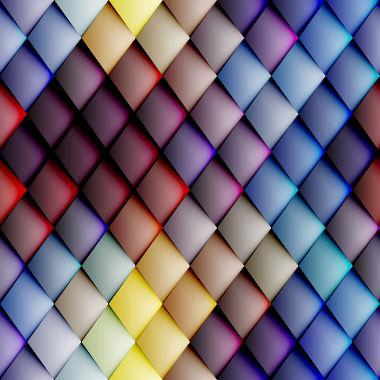 Figura composta por losangos coloridos