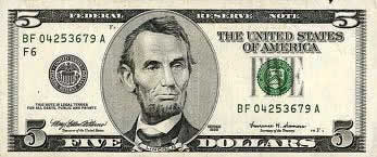 Nota americana de cinco dólares