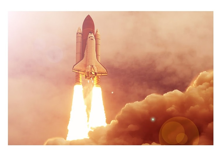 A grande energia interna do gás expelido pelo foguete é capaz de realizar enormes quantidades de trabalho.