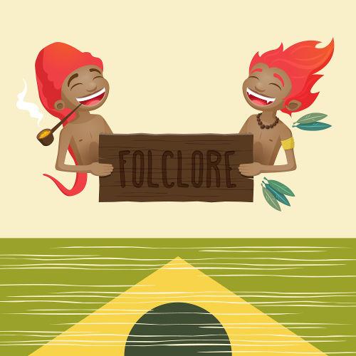 Em 22 de agosto, é comemorado o Dia do Folclore. Personagens como o saci-pererê e o curupira fazem parte do folclore brasileiro.