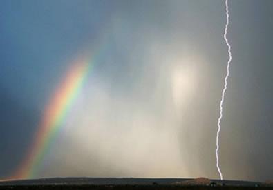 Formação de um arco-íris