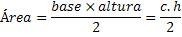 Fórmula da área de um triângulo qualquer
