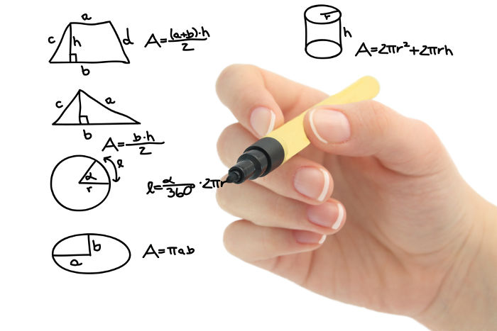 Fórmulas usadas para o cálculo da área de algumas figuras geométricas