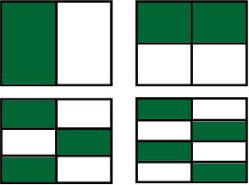 Frações diferentes que expressam quantidades iguais