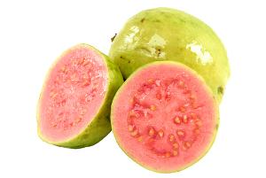 Fruto de polpa rosada apta para o consumo