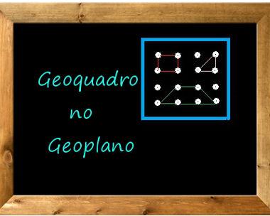 Geoplano é um instrumento matemático utilizado para o estudo da geometria plana. O Geoquadro é uma atividade que utiliza o Geoplano