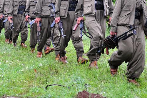 Guerrilheiros do PKK, do Kurdistão*