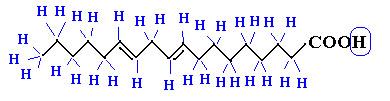 Hidrogênios subentendidos na fórmula de traços