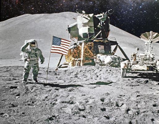 A chegada do homem à Lua, em 1969, foi um dos capítulos mais marcantes da corrida espacial.