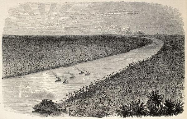 Ilustração de 1868 retrata embarcações de guerra brasileiras no rio Paraguai, nas proximidades de Humaitá
