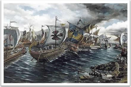 Ilustração – O domínio marítimo ateniense
