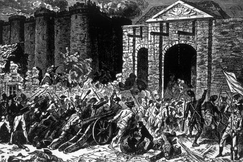 Ilustração retrata a tomada da Bastilha em 14 de julho de 1789, na cidade de Paris