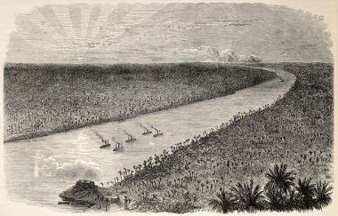 Ilustração retratando navios brasileiros na época da Guerra do Paraguai
