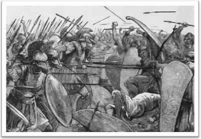 Ilustração - Soldados espartanos