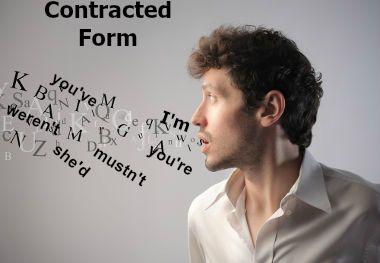 """""""I'm"""", """"You've"""", """"you're"""" e """"She'd"""" são exemplos de formas abreviadas em inglês"""
