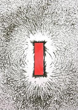 Campo magnético gerado por um ímã em forma de barra