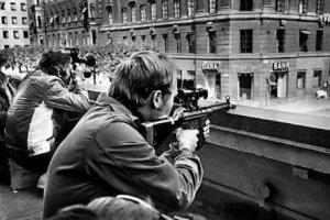 """Imagem do assalto de 1973, que resultou na descoberta da """"síndrome de Estocolmo"""