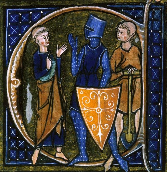 Imagem representando o clero, o nobre guerreiro e um trabalhador *