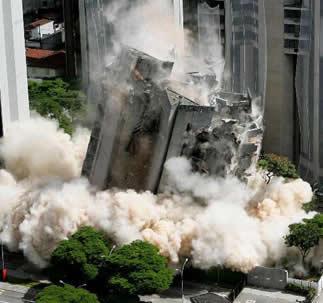 O TNT é muito utilizado em implosões