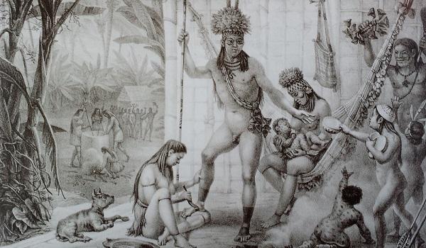 Povos indígenas brasileiros retratados por Jean-Baptiste Debret