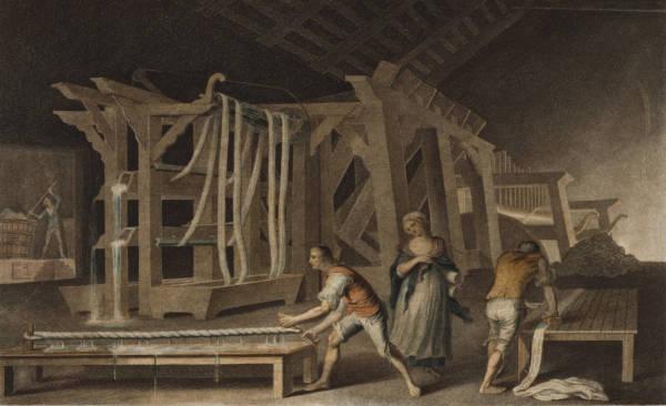 A indústria têxtil teve grande destaque no período da Revolução Industrial. *